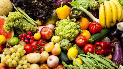 vegetables and fresh fruits
