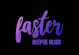 Faster Deeper Bliss logotype